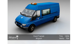 3D Model - Ford Transit - Airport