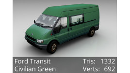 3D Model - Ford Transit - Civilian Green