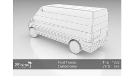 3D Model - Ford Transit - Civilian Grey